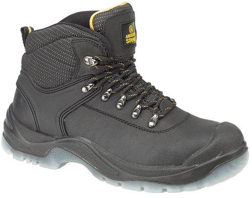 Chaussures montantes de sécurité S1-P Amblers Steel FS199 pour femme (39 EUR) (Noir)