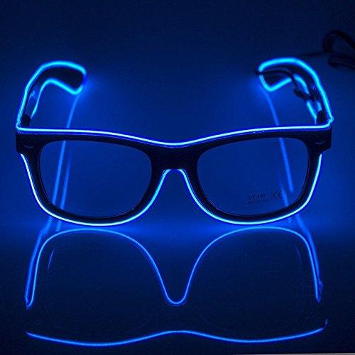 AZX LED-Brillen Mode Nacht Leuchten Gläser Multicolor Light Up Brillen Für Party Festival Kostüm Club (Blau)