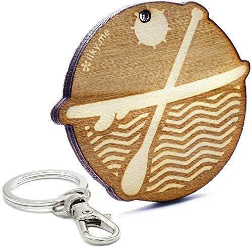 LIKY® PADDLE SURF SUP Standup - Schlüsselanhänger aus Holz mit Gravur Geschenk für Damen und Herren Geburtstag Vatertag Muttertag Anhänger für Tasche und Rucksack