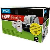 Dymo 1896042 LabelWriter 450 mit drei Etiketten-Rollen, weiß