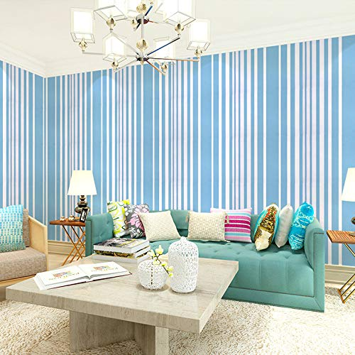 Wasserdichte selbstklebende Tapete gestreifte Tapete Schlafzimmer Wohnzimmer Wandaufkleber dekorative Aufkleber