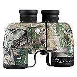 Qunse Fernglas Militär Fernglas 10 x 50 mit Entfernungsmesser und Kompass, geeignet für Jagd, Vogelbeobachtung und Reisen (10 x 50, Armee)