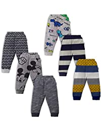 NammaBaby Kid's Cotton Pajama Pant with Rib - Pack of 6