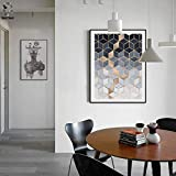 SUNNYWLH Pittura Senza Cornice Cubo Geometrico Poster E Stampe su Tela Quadri su Tela Immagini per Soggiorno Decorazioni per La Casa Astratte