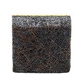 100 x almohadillas de fieltro | 13x13 mm | marrón | quadrati | Patas de muebles adhesiva de la máxima calidad (5.5 mm) de Adsamm®
