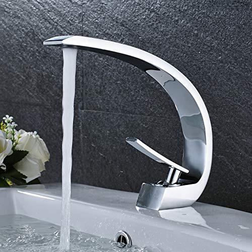 Suguword Wasserhahn Bad Chrom Amaturen Badezimmer Armatur Waschbecken Mischbatterie Bad waßerhahn garten wasserhahn kaltwasser - Low-flow-wasser