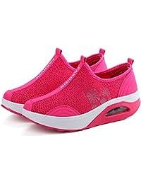 Las Mujeres sacuden los Zapatos, la Zapatilla de Deporte Respirable de la Malla, los Zapatos agitados de la Parte...