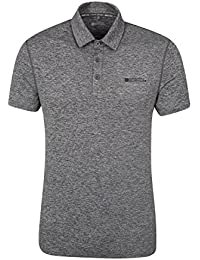 Mountain Warehouse Polo Homme manches courtes Léger respirant Deuce IsoCool