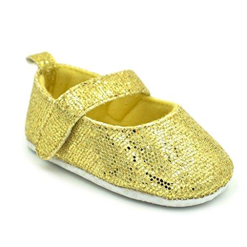 Clode® Neugeborene Kleinkind Baby Säuglings Mädchen Schuhe Nette weiche Sequins Anti Rutsch Schuhe Gelb