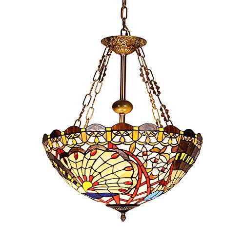 SMGHF ristorante Mediterraneo Lampadario colorato vetro sala da pranzo lampada balcone corridoio lampadario illuminazione europea Tiffany, E27