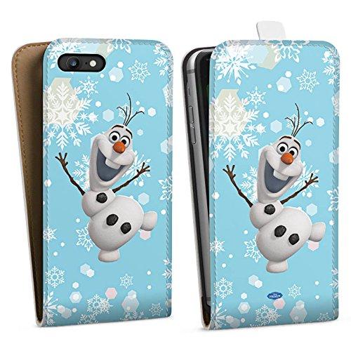 Apple iPhone X Silikon Hülle Case Schutzhülle Disney Frozen Olaf Geschenk Fanartikel Downflip Tasche weiß