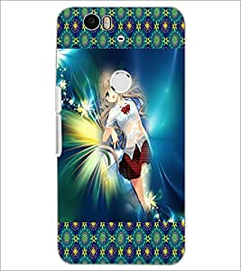 PrintDhaba Lovely Girl D-3023 Back Case Cover for HUAWEI NEXUS 6P (Multi-Coloured)