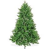 Nordmanntanne Spritzguss Künstlicher Weihnachtsbaum 180cm in Premium Spritzguss Qualität, grüne Nordmanntanne, Tannenbaum mit PE Kunststoff Nadeln, Nordmannstanne Christbaum