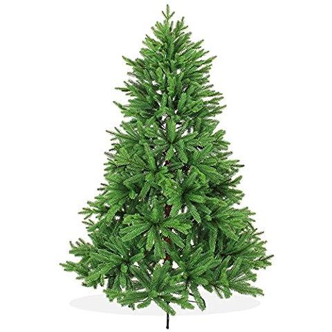 Nordmanntanne Spritzguss Künstlicher Weihnachtsbaum 180cm in Premium Spritzguss Qualität, grüne Nordmanntanne, Tannenbaum mit PE Kunststoff Nadeln, Nordmannstanne