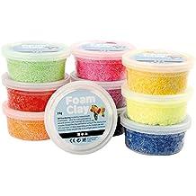 Creativ Assortiment de pâte à modeler perlée Foam Clay (10x 50g, couleurs assorties)