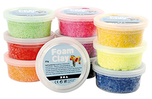Foam Clay® - assortiment, Couleurs assorties, de base, 10x35gr