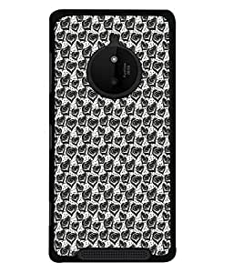 FUSON Designer Back Case Cover for Nokia Lumia 830 (Seamless Pattern Blue Design Drawing )