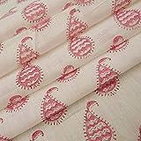 #4: 5 Meter Hand Printed Cotton Fabric Jaipuri Bagru Print Hand Block Printed Cotton Fabric Craft Making Floral Print Cotton #05