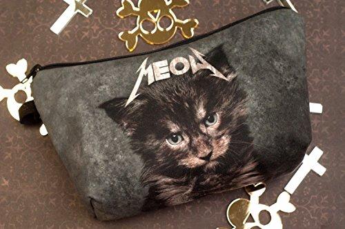 Kukubird Divertimento Nuovo Animale Foto Modello Stampa Make-up Bag Con Sacchetto Di Polvere Di Kukubird MeowCat