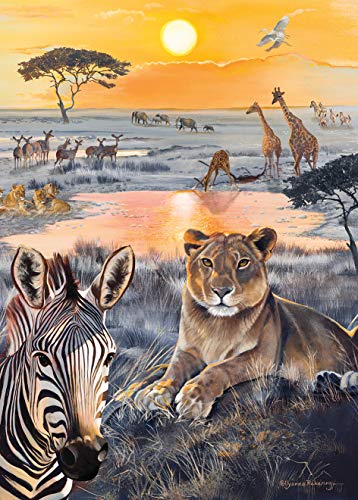 Otter House Safari Sundown - Afrika - Puzzle 1000 Teile