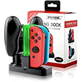 Tobo 4 in 1 Charging Dock with Type C Cable for N-Switch Joy-Con and Pro Controller