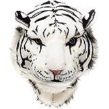 Glanzzeit 3D Tier Rucksack Tiger Schwarzer Panter Löwe Panda Kopf Knapsack Unisex Daypacks (Weißer Tiger-L)