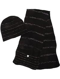 Bonnet et écharpe à effet brillant - Fille