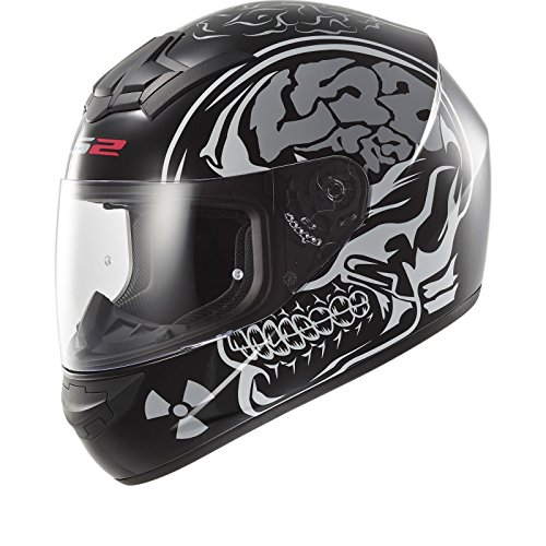 LS2 FF352 X-RAY Casco Moto da Corsa Scooter Full Face Casco Integral Moto Touring Pin-Lock Ready Helmet, Nero opaco (XS)
