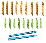 #10: Kelley Magic Leverag As Seen On Tv Curlformers Spiral Hair Roll Curlers 18 Pcs