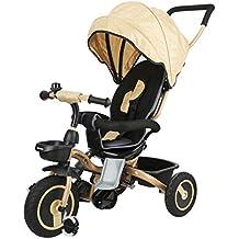 Fascol Tricycle Bébé Evolutif Pliable Poussette avec Canne pour Enfant 6 Mois à 5 Ans Vélo et Véchicule