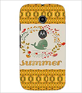 PrintDhaba Cartoon D-5027 Back Case Cover for MOTOROLA MOTO E2 (Multi-Coloured)