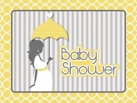 Carte postale Invitations W/fixation mod bébé douche 48ct