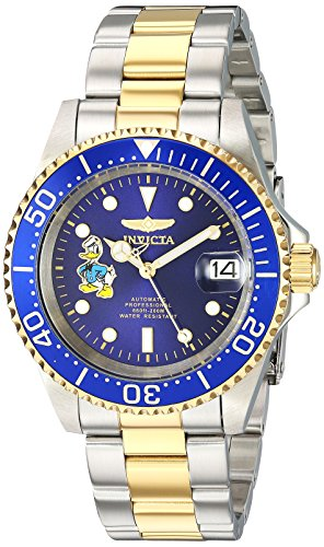 Invicta 24397 Disney Limited Edition - Donald Duck Unisex Wrist Watch Stainless Steel Automatic Blue Dial