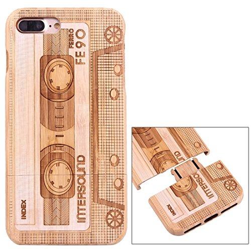 Hülle für iPhone 7 plus , Schutzhülle Für iPhone 7 Plus Trennbare Carving Löwenzahn Muster Carbon Bambus Schutzmaßnahmen zurück Fall Deckung ,hülle für iPhone 7 plus , case for iphone 7 plus ( SKU : I Ip7p1447v