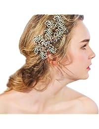 YAZILIND tocado belleza de la mujer nupcial de la boda clip de pelo broches de la aleaci¨®n de diamantes de fiesta accesorios de pelo