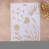 Airbrush-Schablonen von Zhuotop, verschiedene Muster, zum Basteln, für Wohndeko, Scrapbooking, Herstellung von Alben, 11, 01#