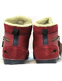 KangaROOS - Botas de cuero para mujer multicolor Brodeaux 40