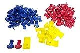 QIANGWEI 100 Abzweigverbinder / Schnellverbinder / Stromdiebe / Klemmverbinder (40x Rot 0,5mm² - 1,5mm² & 50x Blau 1,5mm² - 2,5mm² & 10x Gelb 2,5mm² - 6,0mm²)