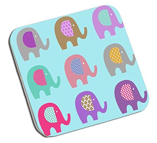 Bonita Taza de Regalo, Alfombrilla de ratón, Posavasos, diseño de Elefantes, Taza...