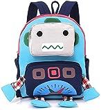 Rucksack Kindergarten Kinder Tasche Kita Gurt Geschirre Leine Gurt Kariert Roboter Jungen Niedlich