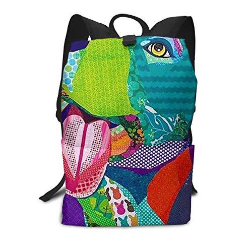 Pitbull Dog Art Backpack Middle für Kinder Jugendliche Schule Reisetasche -