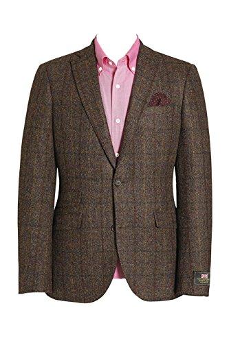 next Herren Schmal Geschnittene Signature Donegal Jacke aus Britischer Wolle Slim Fit EU 96.5 Regular (UK 38R) Braun -