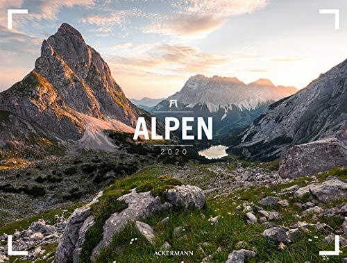 Alpen - Ackermann Gallery 2020, Wandkalender im Querformat (66x50 cm) - Großformat-Kalender / Hochwertiger Panorama-Kalender Berge und Natur -