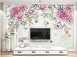 Yosot Benutzerdefinierte 3D Tapete Kleine Frische Moderne Pflanzen Blumen Schmetterling Pastoralen Tv Hintergrund Wohnzimmer Schlafzimmer 3D Tapete-140cmx100cm