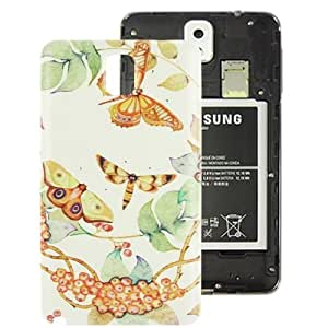 Moths Pattern Plastic Material Replacement Back Cover for Samsung Galaxy Note III / N9000