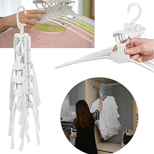 TOPmountain Moderne minimalistische Garderobe Trockengestelle Multi Storage Finishing platzsparende Teleskop multifunktionale Kunststoff Falten Schlafsaal Kleiderständer