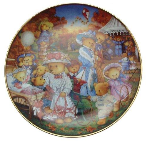 Franklin Mint Teddy Bär Teller Teddy Bär Ausflug Carol Lawson-cp1787 Franklin Teller
