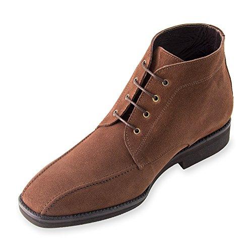 Masaltos Hauteur Des Chaussures Pour Hommes Jusqu'à 7cm. Fabriqué En Cuir Modèle Ancona Brown