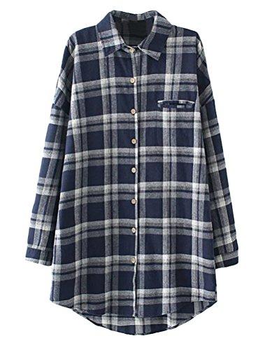 MatchLife - Camicia - Camicia  - Maniche lunghe  -  donna Bleu+Blanc