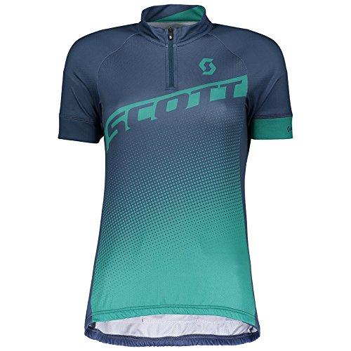 Scott Endurance 40 Damen Fahrrad Trikot kurz blau/grün 2018: Größe: M (38/40)